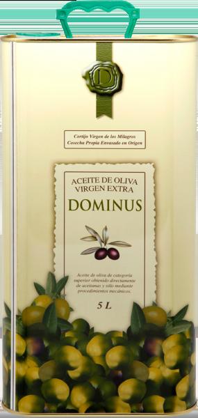 """Aceite Virgen Extra """"Dominus"""", 4 latas de 5 L."""