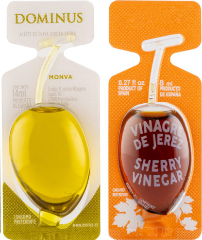 Aceite de Oliva Virgen Extra DOMINUS y Vinagre de Jerez en Monodosis